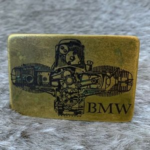 Vintage BMW Brass Belt Buckle